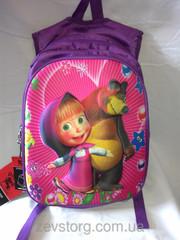 Рюкзак в школу с изображением Маши и Медведя