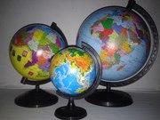 Продам нові глобуси,  діаметри (11, 16, 22, 26 см).